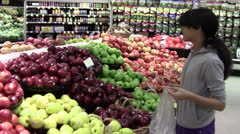 Choosing Apples Stock Footage