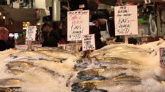 Seattle fresh seafood fish market water front HD 6717 Stock Footage