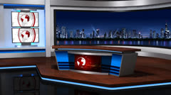 News studio_056 - stock footage