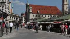 Street in Munich - stock footage