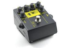 Guitar distortion pedal effect Stock Photos