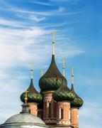 domes of the orthodox church - stock photo