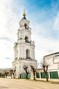 The bell tower in sunny day Stock Photos