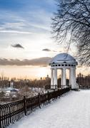 arbor on the quay in the center of yaroslavl. russia - stock photo