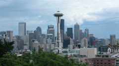 Seattle urban business center Space Needle HD 6790 Stock Footage
