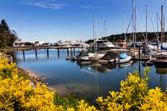 Bainbridge island harbor puget sound washington state Stock Photos