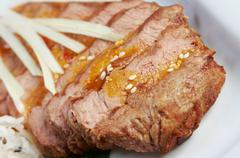 Grilled beef . Stock Photos