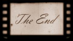 The End Vintage Filmstrip Stock Footage
