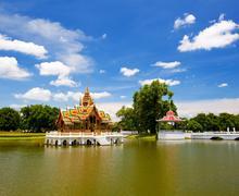 pang-pa-in palace - stock photo