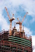 """Katkelma rakennus pilvenpiirtäjiä liikekeskus """"Moscow-City"""" Kuvituskuvat"""