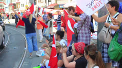 Protesters at Altiyol, Kadikoy Stock Footage