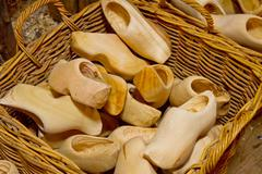 Clogs -  dutch wooden shoes Stock Photos