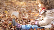 Child feeds a little squirrel Stock Footage