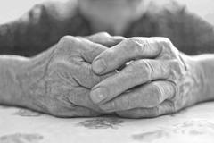 Stock Photo of old woman's hand