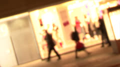 Blurred people in motion 01 Stock Footage