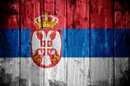 Serbian flag background Stock Illustration