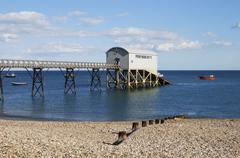 lifeboat station at selsey. sussex. england - stock photo