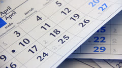 Money and calendar - stock footage
