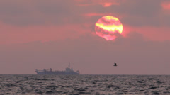 Breaking Dawn above the sea Stock Footage