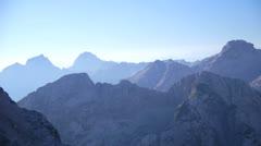 Blue mountain peaks - stock footage