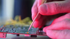 Soldering Stock Footage