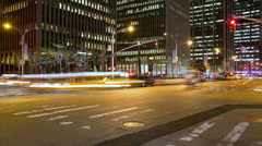 New York urban city night time-lapse timelapse - stock footage