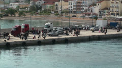 Traffic on the jetty (4) Stock Footage