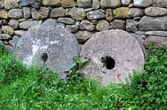 Stock Photo of two millstones