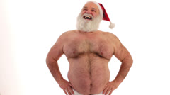 freaky Santa Claus - stock footage