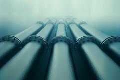 Underwater pipeline. - stock illustration