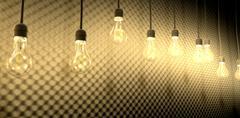 Light bulbs against acoustic foam Stock Illustration