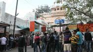 India Pushkar crowd of people Stock Footage