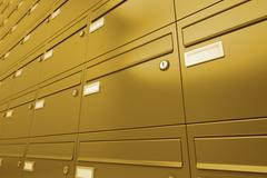 Mailboxes. - stock illustration