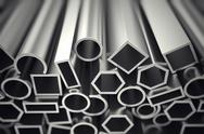 Stock Illustration of Aluminium profiles.