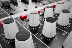 Audio Console. Stock Illustration