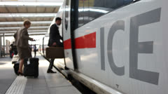 3515 Passengers board Intercity train in Germany -Pond5 PhotoJPEG Progressive Stock Footage