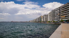 View of Thessaloniki's port - Timelapse Stock Footage