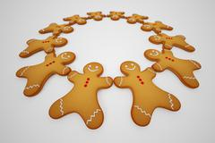 Gingerbread man. - stock illustration