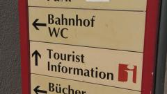 Tourist information - Germany - HD Stock Footage