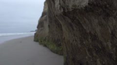 Slow Motion Along Side of Cliff HD Video Stock Footage