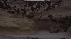 Gloomy Cliff Beach HD Video Stock Footage