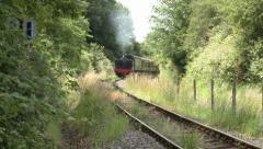 Historic British Steam Train at the Avon Valley Railway Stock Footage
