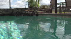 Slo-mo Pool in Florida HD Video Stock Footage