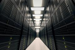 Server room. - stock illustration