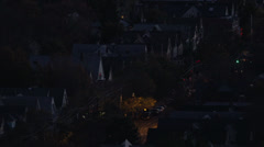 Stock Video Footage of Houses on City Street New Haven Connecticut HD Video