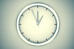 Simple modern clock. - stock illustration