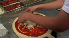 Chef making pizza Stock Footage
