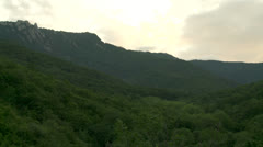 Clouds on the mountains landscape Stock Footage