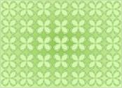 Stock Illustration of four leaf clovers pattern