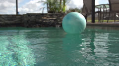 Ball Floating in Pool HD Video Stock Footage